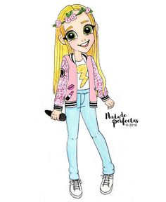a request of this adorable and talented artist One new personalization!🌹🎤🎶⚡💞😊 I hope you like it! un pedido de esta adorable y. Tumblr Drawings, Bff Drawings, Disney Drawings, Cartoon Drawings, Cartoon People, Anime People, Cartoon Pics, Girl Cartoon, Disney Kunst