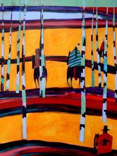 Linus Woods paintings   Bearclaw Gallery Edmonton