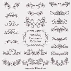 草圖婚禮裝飾品集合