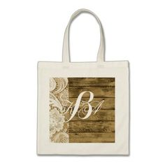rustic wedding burlap lace country bridesmaid tote bag