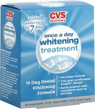A dental hygienist told me the best time to use the whitening strips is right after you get your teeth polished. I love this stuff, it really keeps my coffee drinking stains in control.