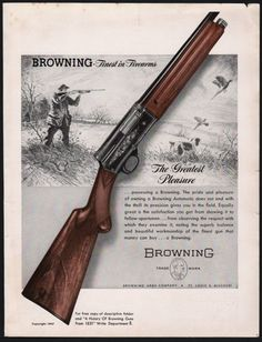 1947 BROWNING Automatic Shotgun PRINT AD : Other Collectibles at GunBroker.com