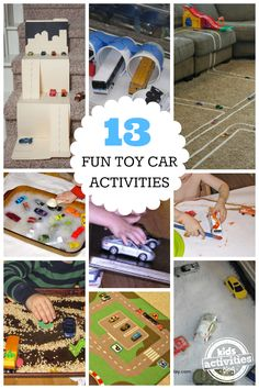 13 Fun Toy Car Activities for Kids: As my son is OBSESSED with cars, I NEED these activities. Brought to you by Chevrolet Traverse Car Activities, Indoor Activities, Craft Activities For Kids, Projects For Kids, Preschool Activities, Games For Kids, Toddler Fun, Business For Kids, Creative Kids