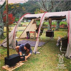 DOPPELGANGER OUTDOOR (ドッペルギャンガーアウトドア) 略してDOD。 カマボコテントは開放的。 #カマボコテント #キャンプ #アウトドア #テント #タープ #チェア #テーブル #ランタン #寝袋 #グランピング #DIY #BBQ #DOD #ドッペルギャンガー (@doppelganger_outdoor)   Instagram photos and videos
