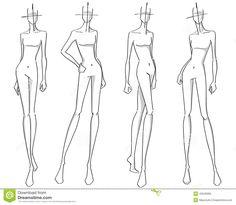 Trendy Ideas Fashion Ilustration Poses Figure Drawing Female Bodies - Fashion Show Fashion Model Drawing, Fashion Figure Drawing, Fashion Drawing Dresses, Fashion Design Drawings, Fashion Sketches, Poses Silhouette, Silhouette Mode, Fashion Silhouette, Fashion Illustration Poses