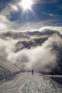 Snowboarding The French Alps by Michael Walton
