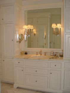 Perfectly simple.  Needs more light for mirror/vanity area.  Shows color of faucets and counter.