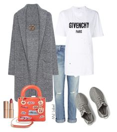 """Casual"" by ms1-ltu on Polyvore featuring Current/Elliott, adidas, Givenchy, Christian Dior and John Lewis"