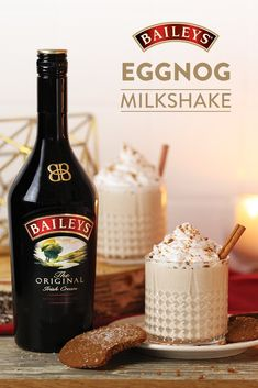 Looking for a way to refresh a classic holiday drink? Make it a shake with Baileys and ice cream! Christmas Party Food, Christmas Drinks, Holiday Drinks, Holiday Recipes, Mixed Drinks Alcohol, Alcohol Drink Recipes, Baileys Recipes, Starbucks Recipes, Yummy Drinks