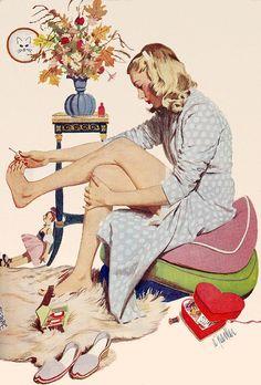 A little bit of pamper time (artwork by Al Parker)