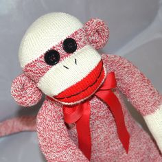 Traditional Sock Monkey Doll New Color by MarysMonkeys on Etsy,