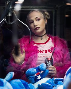 Photography by Rex Abergas  #90s #grunge #pink #girly #arcade #glow #fashion #style #beauty #drpepper #vaporwave