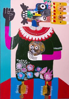 "Kojo Marfo, ""The Chief And His Calabash"" The new voices shaking up contemporary African art African Art Paintings, African Origins, What Is An Artist, Contemporary African Art, Art Painting Gallery, Afro Art, African American Art, Tribal Art, Art World"