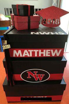 How To Create A Graduation Card Box #graduation #graduationparty #cardbox # #senior #highschool #highschoolgrad #college Graduation Card Boxes, Graduation Cards, Graduation Ideas, Diy Card Box, Gift Card Boxes, Diy Box, Congratulations Graduate, Crafts For Girls