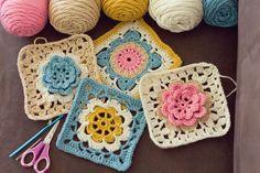 Cutest crochet granny squares :).