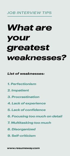 Strengths and weaknesses for job Interviews with great answers. Discover our list of professional strengths and weaknesses to mention in your job interview. Job Interview Answers, Job Interview Preparation, Behavioral Interview Questions, Job Interview Tips, Job Interviews, Interview Quotes, Job Resume, Resume Tips, Resume Skills List