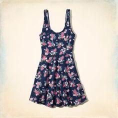 Bettys Hidden Hills Knit Skater Dress | Bettys New Arrivals | HollisterCo.com