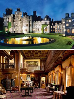 Ashford Castle Ireland . . . one of the beautiful castles we went to!! The pictures don't do it justice!!