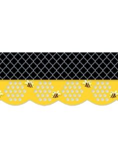 Create a modern and stylish bee themed classroom by combining the Honeycomb Jumbo Stencil-Cut Border with the Moroccan Nights Border.  Perfect edging for bulletin boards or let light shine through the honeycomb on a window.