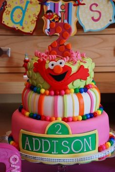 An Ombré Flamingo Cake Instagram Users Birthdays And Girl Birthday - Elmo and abby birthday cake