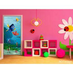 Amazing Finding Nemo Mural By WallandMore. Bbg, Pixar, Disney Rooms, Door Murals, Finding Nemo, Love Is All, Disney Movies, Decoration, Playroom
