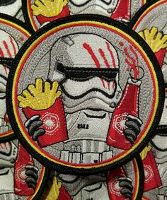 fully embroidered iron on backing limited number with velcro backing each patch comes with a matching decal in stock and ready to ship! Cool Patches, Pin And Patches, Iron On Patches, Disfraz Star Wars, Star Wars Jacket, Scouts, Apocalypse, Disney Patches, Bag Pins