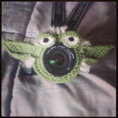 Yoda lens buddy #crochet #lilthimbleoriginal #lensbuddies #photography