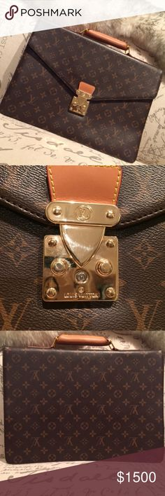 f3a3c7eea6d Louis Vuitton Briefcase   Work Bag A gorgeous classic LV monogram briefcase  in excellent condition.