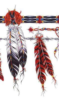 Girl Arm Tattoos, Arrow Tattoos, Arm Band Tattoo, Body Art Tattoos, Sleeve Tattoos, Indian Feather Tattoos, Indian Feathers, Native American Tattoos, Native Tattoos