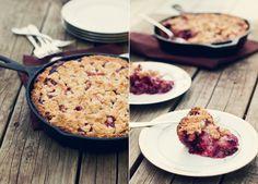 make blackberry peach cobbler pie—in your cast iron instead of your pie pan Peach Cobbler Pie, Blackberry Peach Cobbler, Cobbler Recipe, Yummy Treats, Delicious Desserts, Dessert Recipes, Yummy Food, Sweet Treats, Cast Iron Recipes
