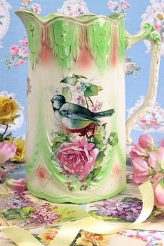 One the most enchantingly pretty vintage pitchers I've ever seen.