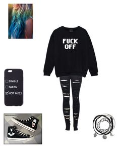 """""""Untitled #34"""" by keiiiii ❤ liked on Polyvore featuring 2LUV, French Connection and Converse"""