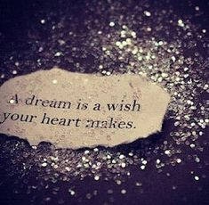 A dream is a wish your heart makes.