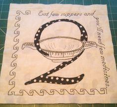 Q antique alphabet
