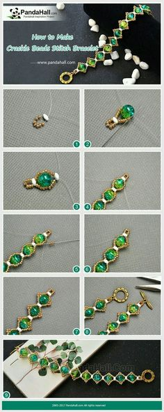 How to make crackle beads stitch bracelet the main materials of the bracelet are crackle beads 2 hole seed beads gold round seed beads and fishing wires with these materials and some stitch skills you can easily get a delicate bracelet Seed Bead Jewelry, Bead Jewellery, Wire Jewelry, Jewelry Crafts, Jewelry Bracelets, Seed Beads, Jewelry Ideas, Silver Bracelets, Jewelry Findings