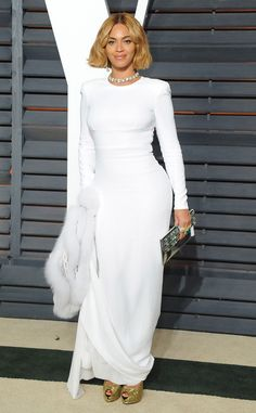 Beyoncé, Academy Awards - Oscars 2015 after party Stella McCartney gown, Giuseppe Zanotti shoes
