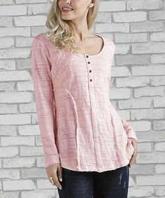 633aea0d71ee Look what I found on  zulily! Dusty Pink Lace Scoop Neck Henley - Plus