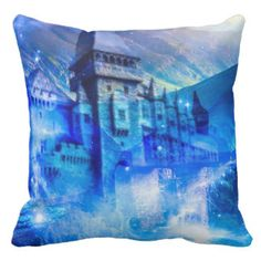 Castle of Glass Throw Pillow