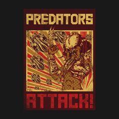 PREDATORS ATTACK! T-Shirt $11 Predator tee at RIPT today only!