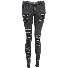 Glamorous Little Mix Jade Thirwall Black Acid Wash Ripped Skinny Jeans by own the runway