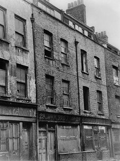 29 Hanbury Street, Jan 1970, just before demolition It was behind one of these building that one of the Jack the Rippers victims was found.
