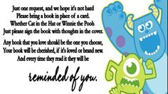 Monsters Inc Baby Shower Book Request Cards
