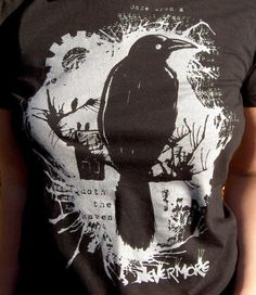 Edgar Allan Poe | The Raven | Nevermore | 50 awesome literary t-shirts for book lovers