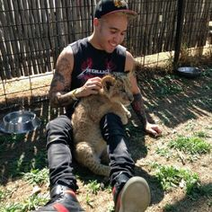 Pete with a lion... too cute