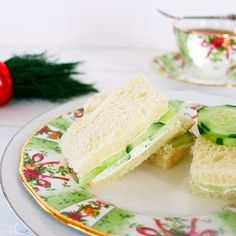 Cucumber Dill Tea Sandwich by syrupandbiscuits