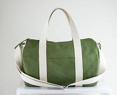 Green Bag Duffel Bag Sport Bag Long and Adjustable Strap Washable Bag Gym Bag Yoga Bag Chic Useful Wide Zipper Closure Unisex Bag Circle Bag >>> Check out this great article. #Handmadehandbags