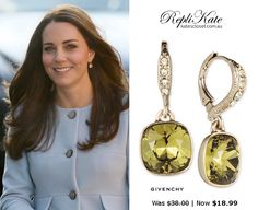 SHOP these repliKates of the Kiki McDonough Green Amethyst and Diamond Cushion Drop Earrings