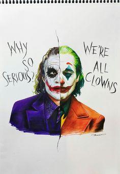 [Artwork] A Tribute Drawing of Joker I Did Inspired from the New TrailerYou can find The joker and more on our website.[Artwork] A Tri. Heath Joker, Photos Joker, Joker Images, Joker Und Harley, Der Joker, Joker Poster, Joker Iphone Wallpaper, Joker Wallpapers, Joker Kunst