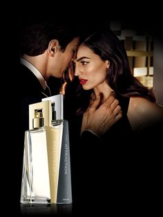 Avon Attraction for Him and Her are magnetic new scents that are built around a shared musk accord and are designed to capture the attention of the opposite sex. The duo makes a perfect gift for a couple, or pick up just one for that special someone. Avon Perfume, Perfume Bottles, Avon Mark, Avon Online, Avon Representative, Smell Good, Attraction, Make Up, Beauty