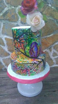 Painted cake by Daniel Guiriba